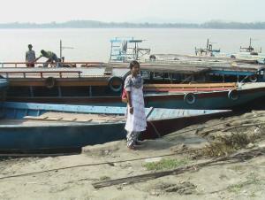 Brahmaputra ferry point off Fancy Bazaar in Guwahati