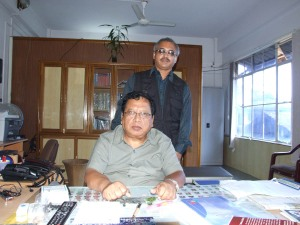 LR Sailo with yours truly in his Aizawl office