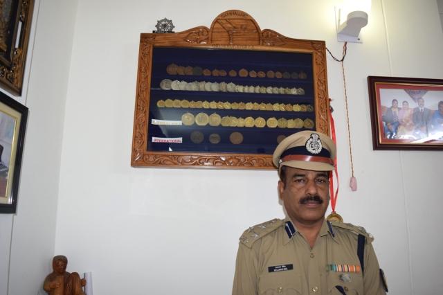 Former Tripura gymnast Balaram Shil, now DIG of CRPF