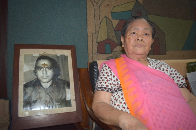 Salam Susheela, wife of Dalip Singh, Tripura's Father of Gymnastics